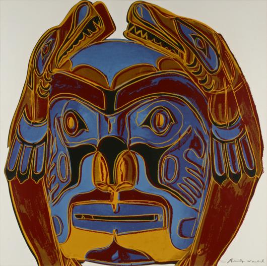 Andy Warhol, Northwest Coast Mask. Image courtesy Fuller's Fine Art Auctions.