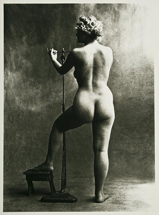 Irving Penn, Sculptor's Model, Paris, 1950. Image courtesy Fuller's Fine Art Auctions.