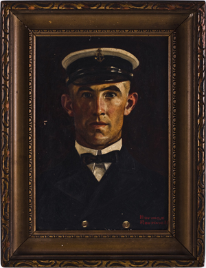 Norman Rockwell, Portrait of Chief Petty Officer LeRoy Evans. Image courtesy Fuller's Fine Art Auctions.