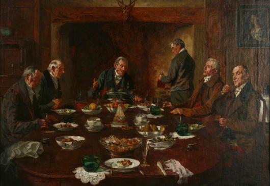 Walter Dendy Sadler, The Old, Old Song. Image courtesy Fuller's Fine Art Auctions.
