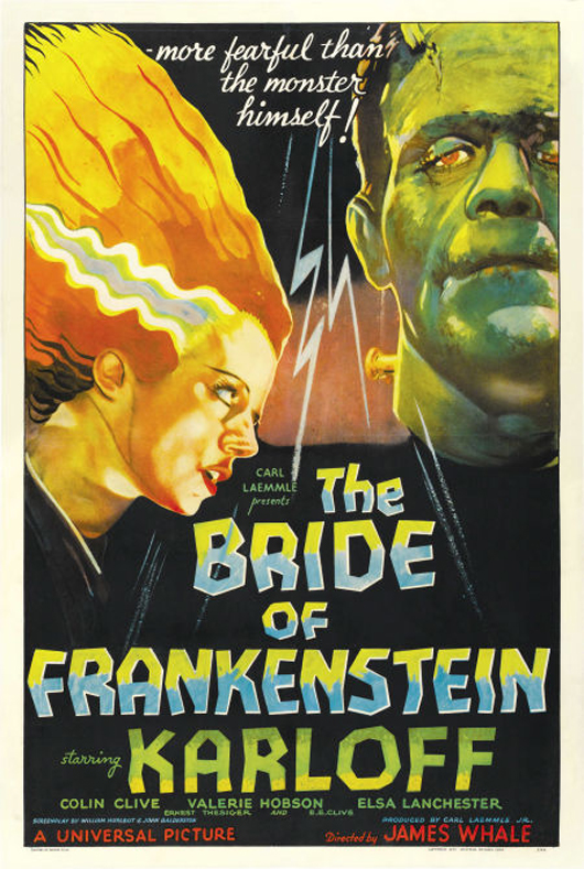 The Style D one-sheet from Universal's The Bride of Frankenstein (1935, 27