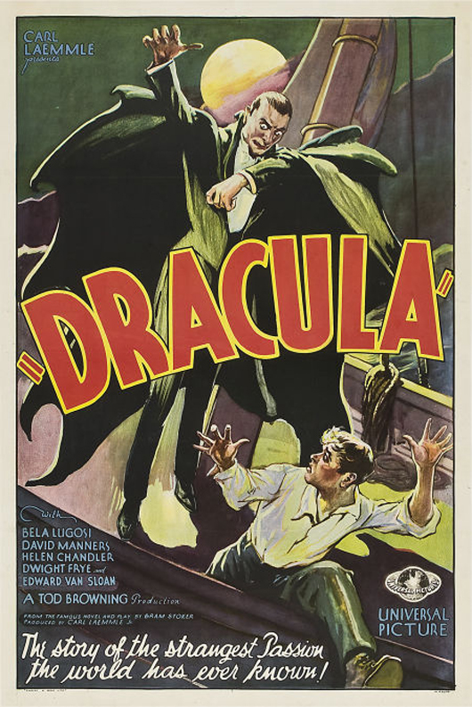This Style F one-sheet of Universal's Dracula (1931, 27