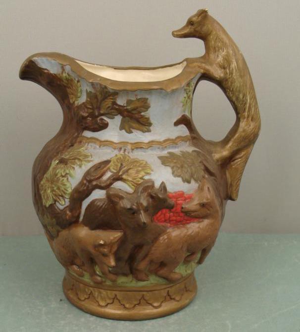 European Folk Art Fox Pitcher. Image courtesy of Universal Live Auctions.