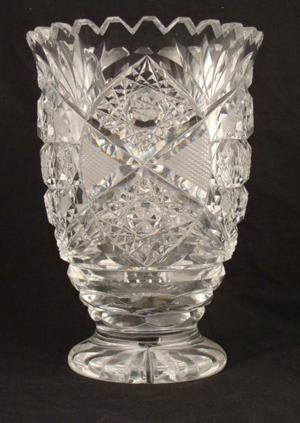 Czech Crystal Vase. Image courtesy of Universal Live Auctions.