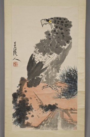 Pan Tianshou's watercolor scroll, 67 inches long, realized $203,150 at Dallas Auction Gallery on May 26. Image courtesy of Dallas Auction Gallery.