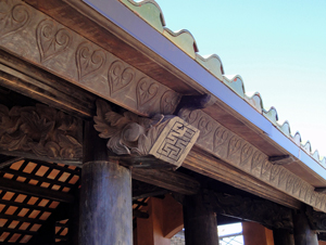 Distinctive 19th-century French colonial detail work on the Pavilion. Image courtesy Camp Lucy.