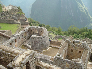 """Machu Picchu Temple of the Sun (also known as """"the Watchtower""""). Photo by Fabricio Guzmán."""