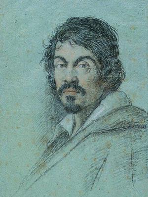 Michelangelo Merisi da Caravaggio (1571-1610 A.D.), chalk portrait executed by Ottavio Leoni circa 1621.