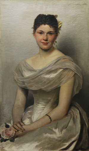 'Study of a Lady Seated' by Eugen Klimsch, lot 49, estimate; $5,000-$7,000. Image courtesy of Morton Kuehnert Auctioneers & Appraisers.