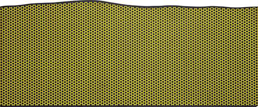 Los Angeles County Museum of Art chose Roy Lichtenstein to participate in an Art and Technology project in 1969. The result was his large magna on board image titled 'Prop for a Film.' It is expected to sell for as much as $1 million. Image courtesy of Phillips de Pury & Co.
