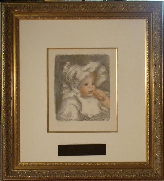 Renoir Child with Biscuit Est $72-$92,000  Photo courtesy Universal Live