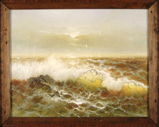 Alfred Manessier Original Rare Early Oil Painting Sea Est $16-$20,000 Photo courtesy Universal Live