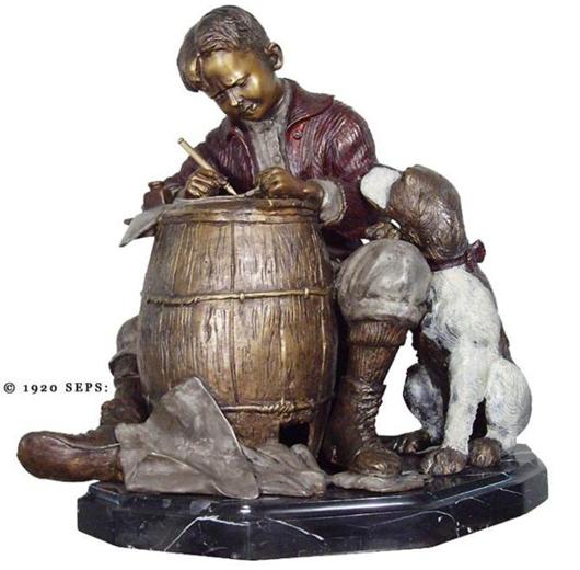 Norman Rockwell Ltd Ed Bronze Sculpture Pen Pals  Est. $9-$11,000 Photo courtesy Universal Live