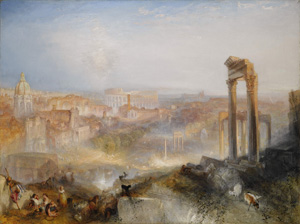 Joseph Mallord William Turner R.A. (London, 1775-1851), Modern Rome - Campo Vaccino, sold at Sotheby's London gallery on July 7, 2010, for GBP 29,721,250 (approximately $45,040,591). The buyer is the J. Paul Getty Museum, Los Angeles, California. Copyrighted image courtesy Sotheby's Inc.