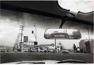 Dennis Hopper, Double Standard, 1961, gelatin silver print, © Dennis Hopper, image courtesy of the artist and Tony Shafrazi Gallery, New York; on view as part of MOCA's current exhibition of Dennis Hopper's work.