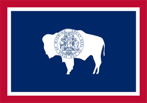 Wyoming State Flag. Public domain image.