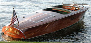 19ft. Chris-Craft Barrel-Back replica built by Shipwright Co., Annapolis, Md., est. $40,000-$80,000. Image courtesy Antique Boat America.
