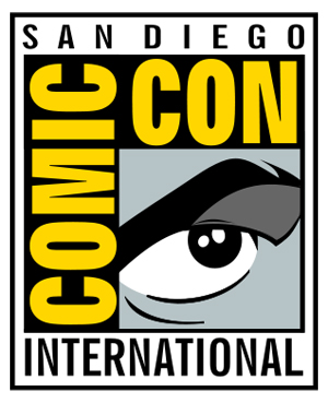 This logo is the copyrighted property of San Diego Comic-Con International. It is used here to illustrate commentary and educate the public about the uniquely branded event. Low-resolution image sourced through Wikipedia.org.