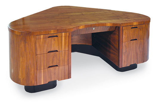 This American Art Deco aviation desk by Frank Fletcher is estimated at $2,000 to $4,000. Image courtesy Clars Auction Gallery.