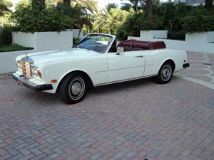 1982 Rolls-Royce Corniche drop-head coupe, estimate $40,000-$60,000. Image courtesy of LiveAuctioneers.com and J. Sugarman Auction Corp.