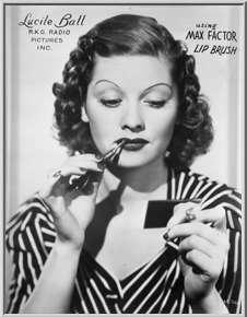 Before Americans loved Lucy's TV series, Lucille Ball was a Hollywood starlet in the 1940s. This 8-inch by 10-inch negative pictures Miss Ball in an advertisement for Max Factor makeup. It has a $75-$250 estimate. Image courtesy of Super Auctions.