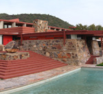 Firoz Mistry traveled from his native India to study at Taliesin West, Frank Lloyd Wright's school in the Arizona desert. Image courtesy of Wikimedia Commons.
