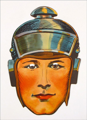 As might be expected the eyes and nose punch-outs are missing from this Buck Rogers Par-T-Mask from 1933. One of two masks in the auction, this face has a $100-$200 estimate. Image courtesy of Susanin's Auctions.