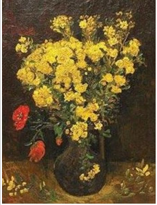 Vincent van Gogh (Dutch, 1853-1890), Poppy Flowers, also known as Vase with Flowers, stolen from Mahmoud Khalil Museum in Cairo.