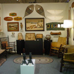 A huge array of rustic antiques shown by Cherry Gallery of Damariscotta, Maine. Photo copyright Catherine Saunders-Watson.