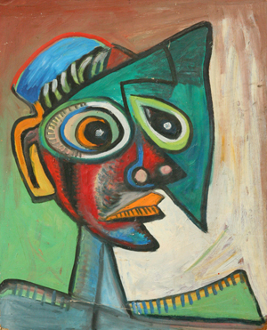 Rolf Scarlett, 'Man-Abstracted,' circa1955, oil on board, 28 inches by 22 inches.
