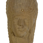 Popeye Reed sandstone Indian bust, sold for $823 at Cowan's Auctions in May. Image courtesy Cowan's Auctions Inc.