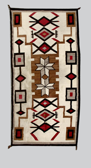 Room-size Navajo rug, wool, 80 inches by 144 inches. Estimate: $4,000-$6,000. Image courtesy of Michaan's Auctions.