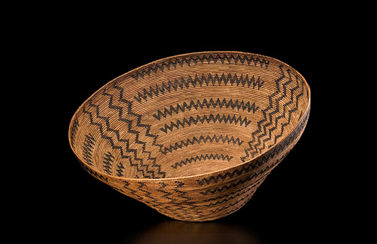 Monumental Western mono basket (est. $40,000-$60,000). Image courtesy of Cowan's Auctions Inc.