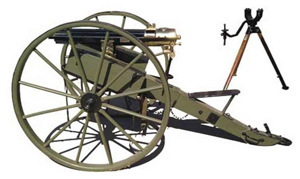 This Colt Gatling gun made in 1875 may sell for more than $150,000 at Fontaine's auction Sept. 12. Image courtesy of Fontaine's Auction Gallery.