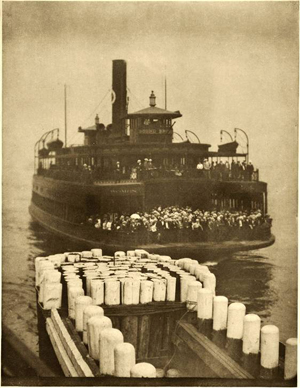 The Ferry Boat, from the Alfred Stieglitz New York exhibition at the Seaport Museum that runs through Jan. 10, 2011. Image by permission of the Seaport Museum New York, Alfred Stieglitz Collection, Courtesy of the Board of Trustees, National Gallery of Art, Washington.