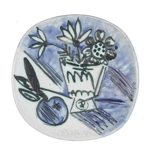 Pablo Picasso (Spanish, 1881-1973) Bouquet a la pomme, 1956. Image courtesy of Bonhams.
