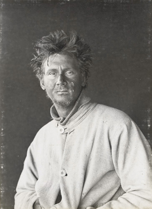 A portrait of Polar explorer Charles Wright from Herbert George Ponting's three master albums of contact prints relating to Scott's Antarctic Expedition of 1910-13, part of an important archive estimated at £150,000-£200,000 ($46,275-$77,125) at Christie's on Sept. 22. Picture courtesy Christie's Images.