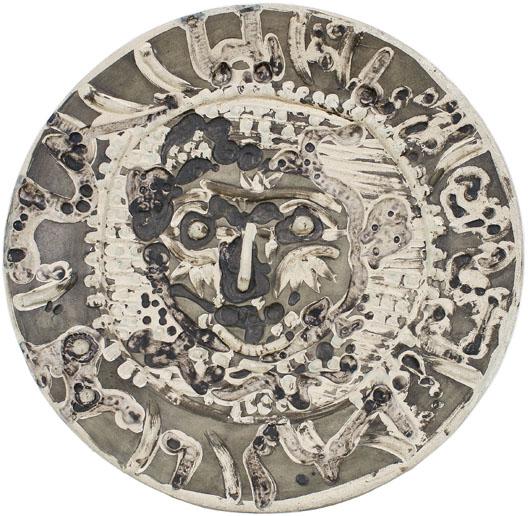 Pablo Picasso (Spanish, 1881-1973), Visage de faune tourmente. Image courtesy of Bonhams.