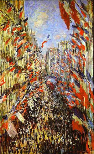 Claude Monet (French, 1840-1926), Rue Montorgueil, Paris, Festival of June 30, 1878, oil on canvas. Musee d'Orsay, Paris.