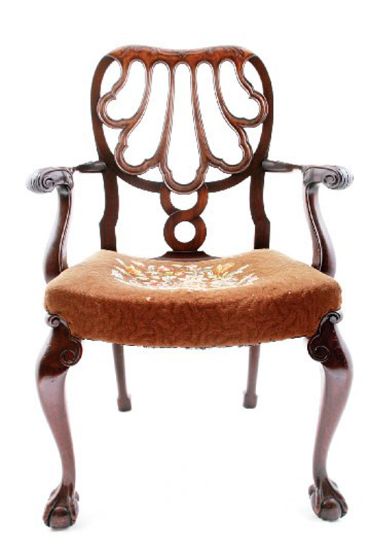 Important Set Of 10 Chippendale Style Dining Chairs By Weir And Hamilton,  Circa 1900