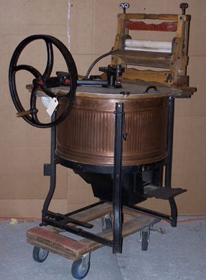 Early machines eased the drudgery of washday