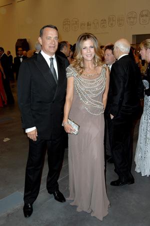 Hollywood royalty – Tom Hanks and Rita Wilson. Photo by Patrick McMullan Company, courtesy of LACMA.