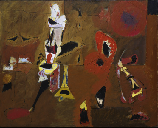 """Arshile Gorky (American, born Armenia, 1904–1948) Agony. 1947Oil on canvas, 40 x 50 1/2"""" (101.6 x 128.3 cm) The Museum of Modern Art, New York. A. Conger Goodyear Fund © 2010 The Arshile Gorky Foundation / The Artists Rights Society (ARS), New York"""