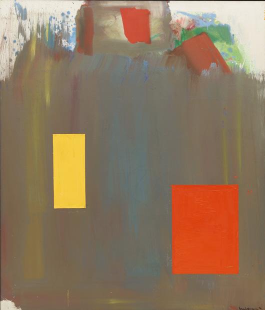 "Hans Hofmann (American, born Germany, 1880–1966) Memoria in Aeternum. 1962 Oil on canvas, 7' x 6' 1/8"" (213.3 x 183.2 cm) The Museum of Modern Art, New York. Gift of the artist © 2010 Renate, Hans & Maria Hofmann Trust / Artists Rights Society (ARS), New York"