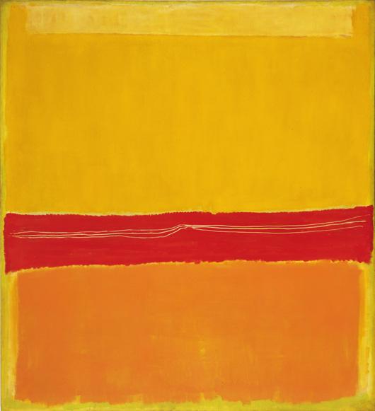 "Mark Rothko (American, born Latvia. 1903-1970) No. 5/No. 22. 1950 Oil on canvas 9' 9"" x 8' 11 1/8"" (297 x 272 cm) The Museum of Modern Art, New York. Gift of the artist.© 1998 Kate Rothko Prizel & Christopher Rothko / Artists Rights Society (ARS), New York"