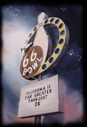 Image courtesy of 66 Bowl, Oklahoma City.