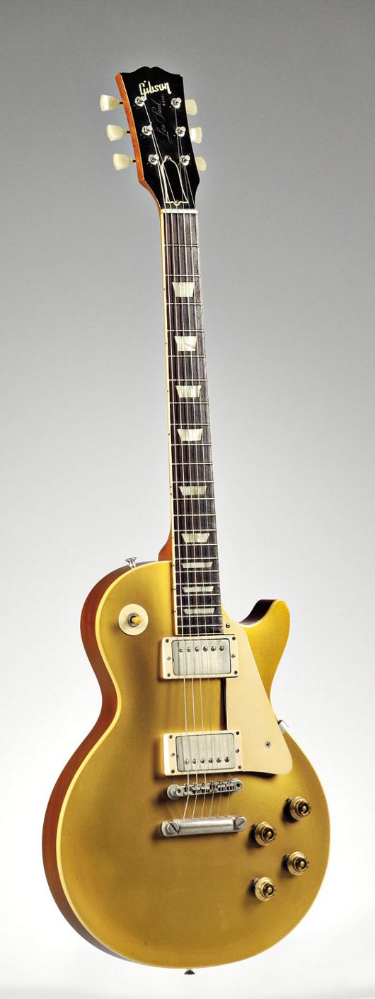 Gibson 1957 Les Paul Goldtop guitar, $60,000-$80,000. Image courtesy Skinner Inc.