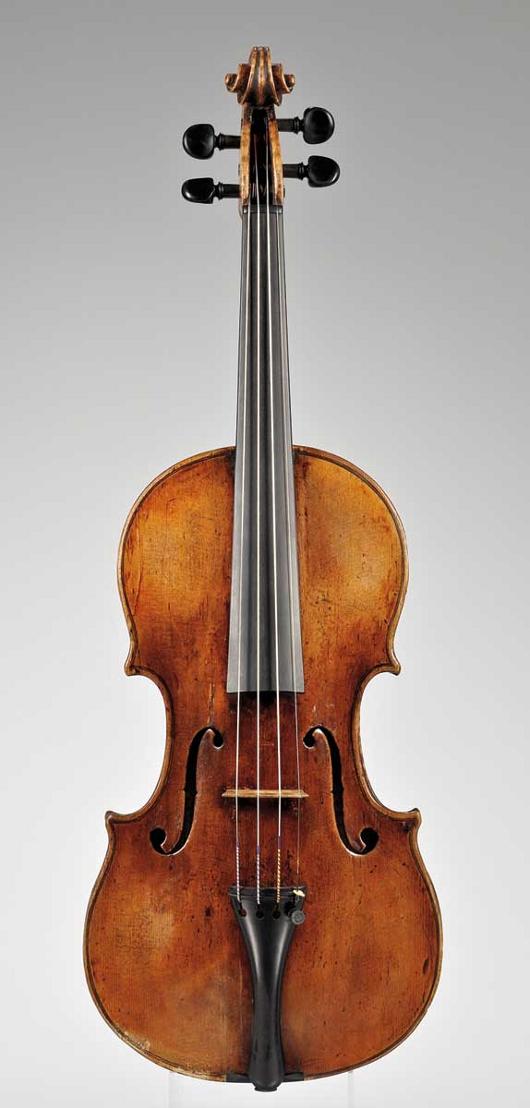 Circa-1760 Italian violin, Gennaro Gagliano, Naples, estimate $70,000-$100,000. Image courtesy Skinner Inc.