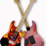 Spiderman guitar created by the legendary Stan Lee and airbrush artist John