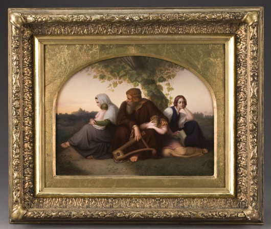 KPM Berlin porcelain plaque painted to depict a scene from the Old Testament. Signed lower right, 'F. Schmidt,' plaque: 12 inches high x 15 inches wide, est. $10,000-$15,000. Image courtesy of Dallas Auction Gallery.